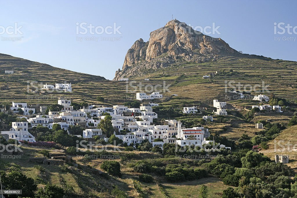 Tinos Island Village stock photo