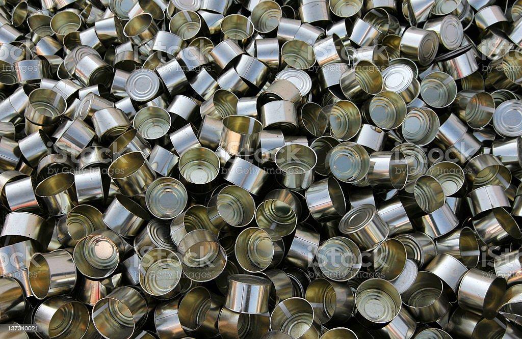 Tins royalty-free stock photo