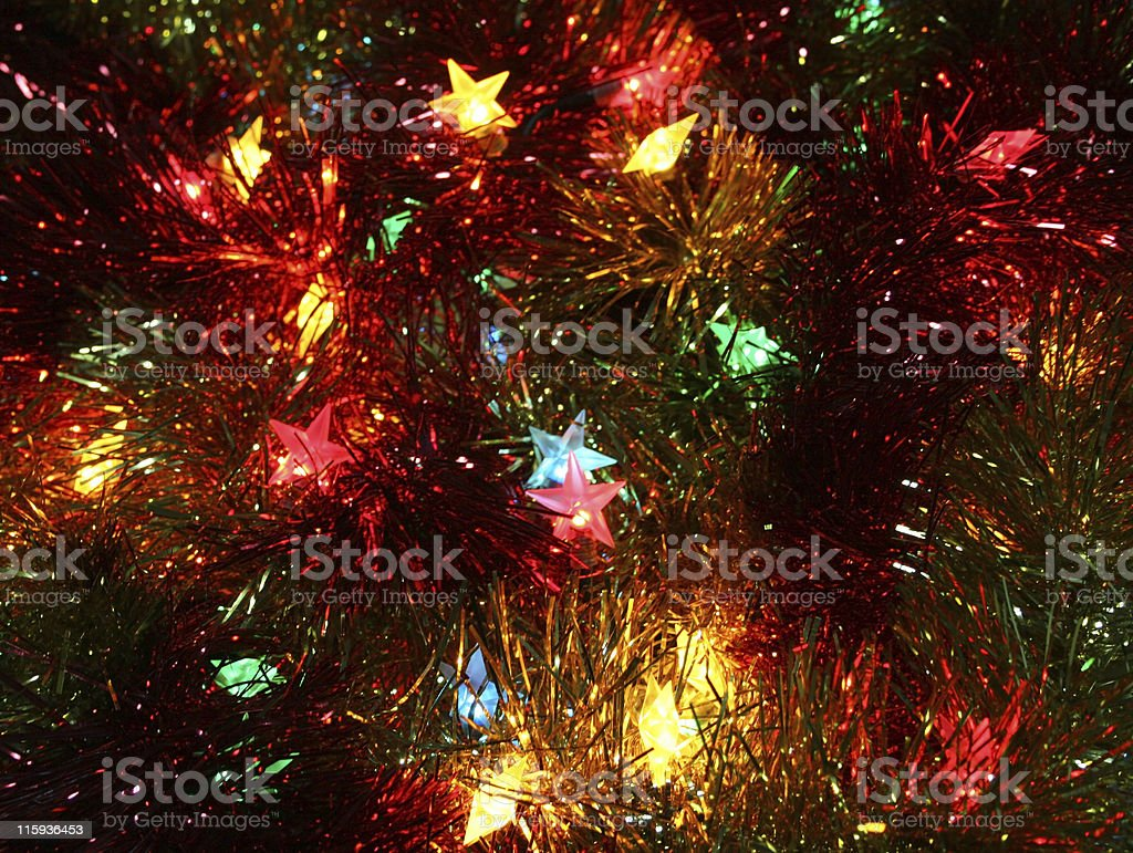 tinsel and stars royalty-free stock photo