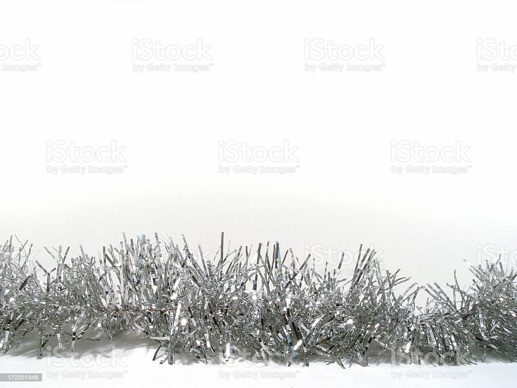 Tinsel for text stock photo
