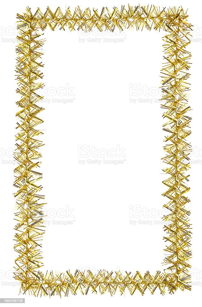 Tinsel frame stock photo