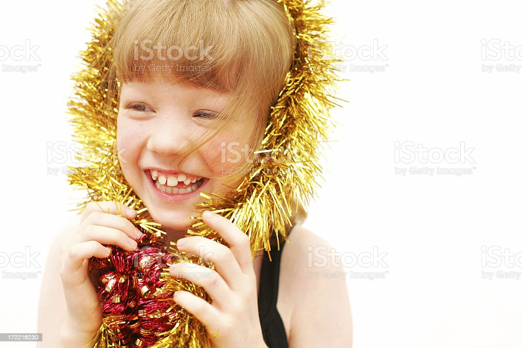Tinsel Laughter stock photo