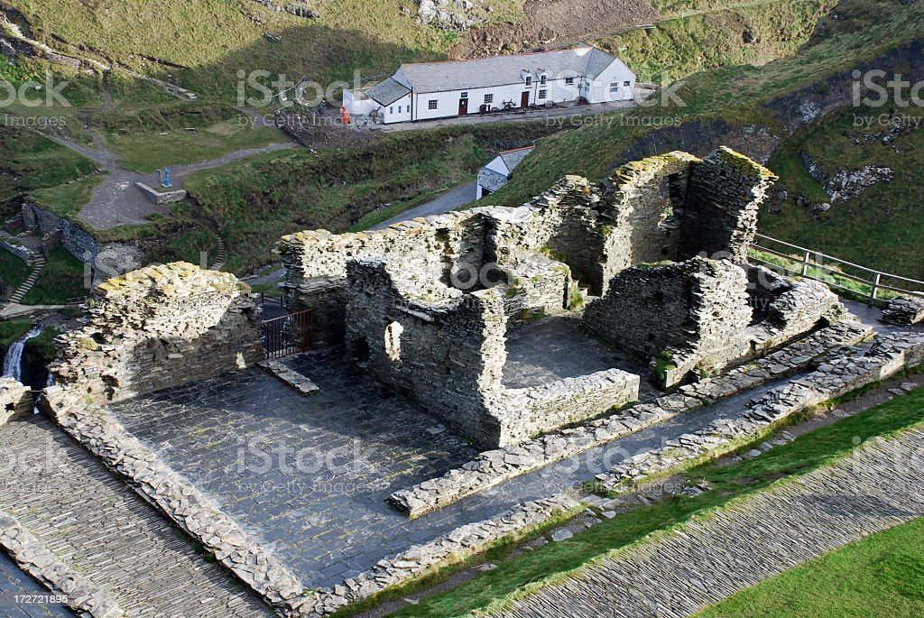 Tintagel Castle royalty-free stock photo