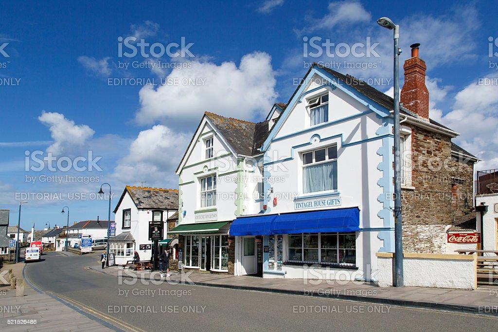 Tintagel - Street View stock photo