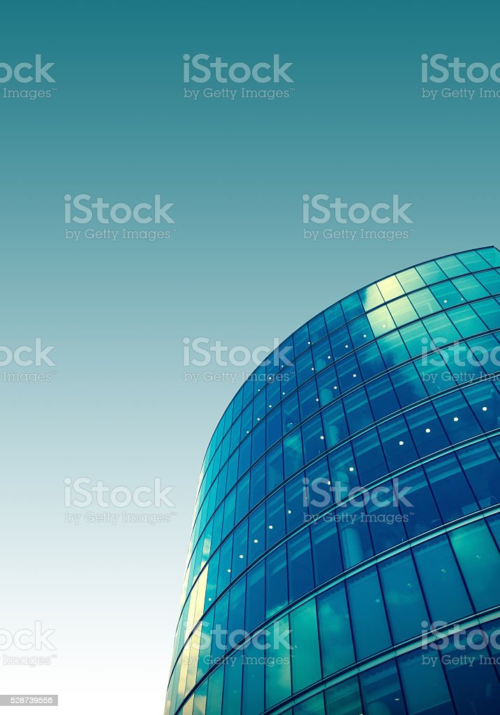 Tinted image of Skyscraper skyline view of a building stock photo