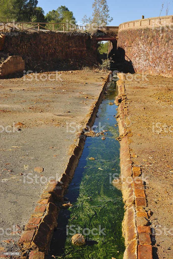 Tinted water stock photo