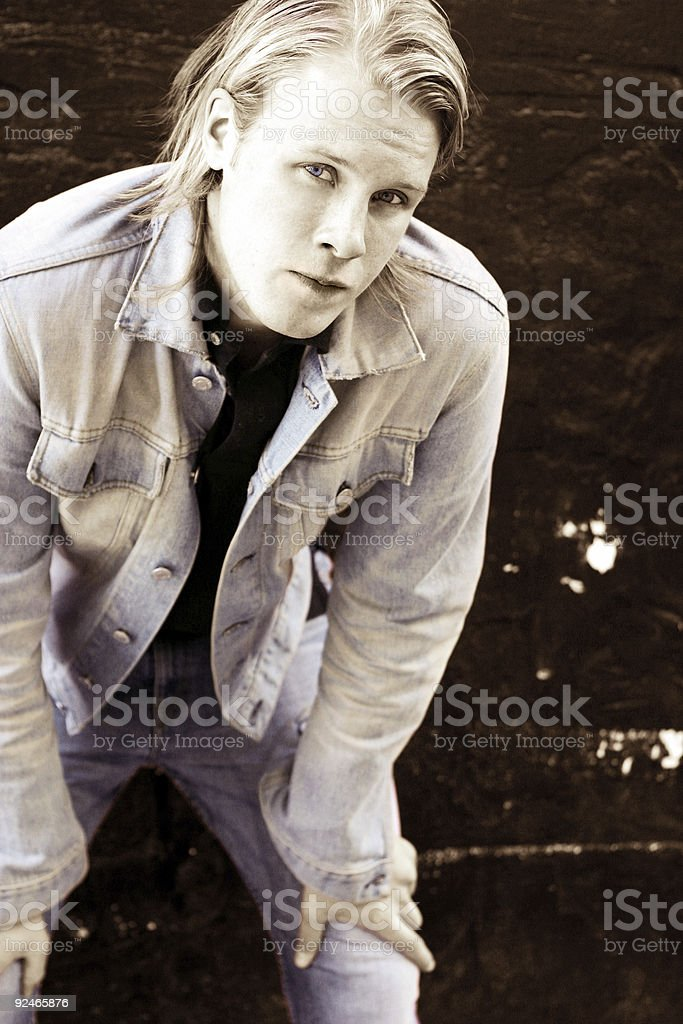 Tinted Worry royalty-free stock photo