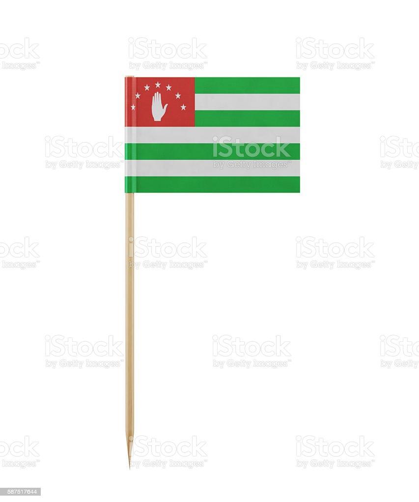 Tiny Abkhazia Flag on a Toothpick stock photo