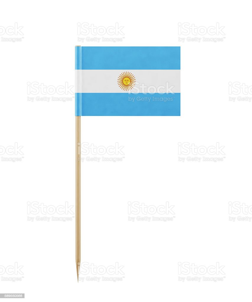 Tiny Argentinian on a Toothpick stock photo