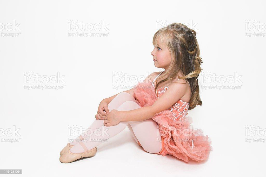 Tiny Ballerina Sitting royalty-free stock photo