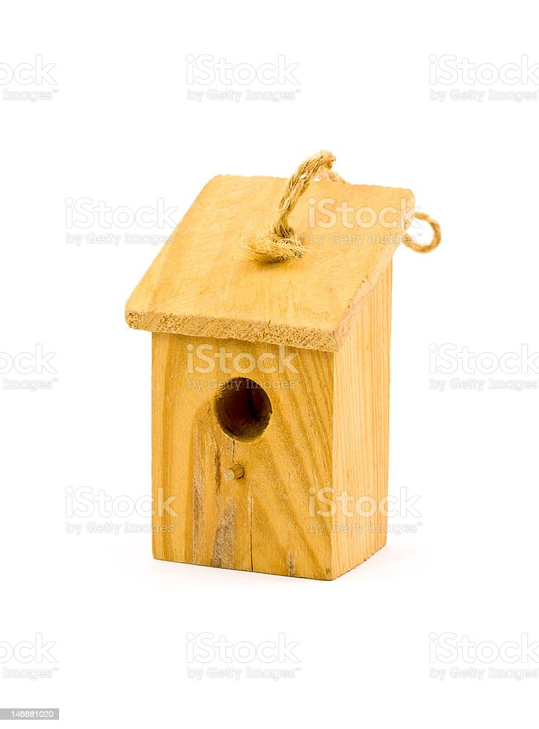 Tiny Birdhouse Ornament royalty-free stock photo