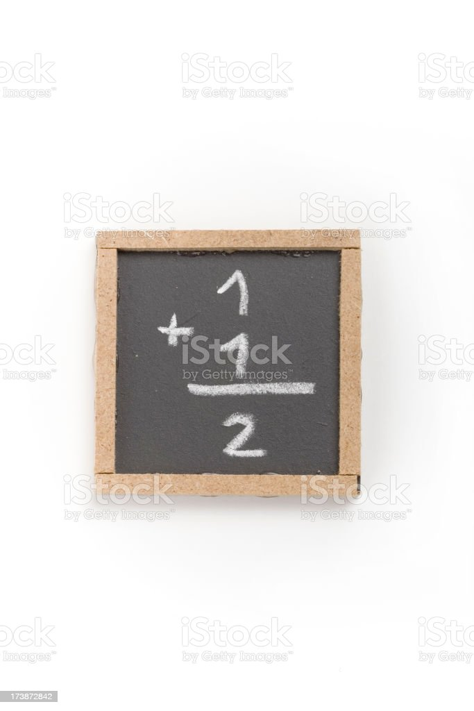 Tiny blackboard with elementary Maths royalty-free stock photo