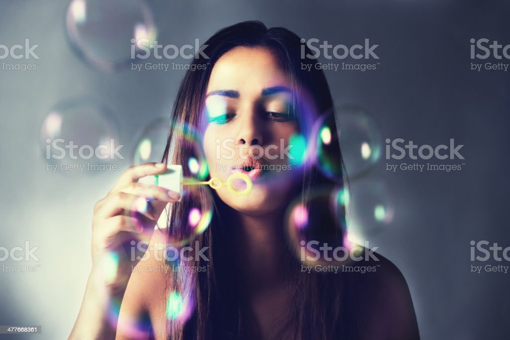 Tiny bubbles... stock photo