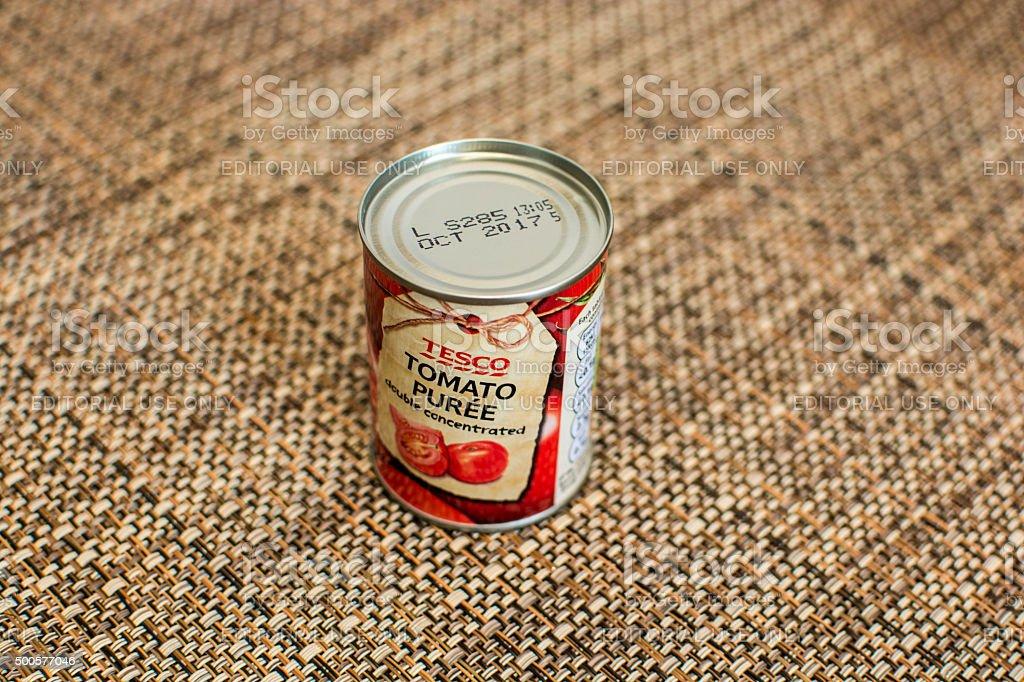 Tiny Can of Tomato Puree stock photo
