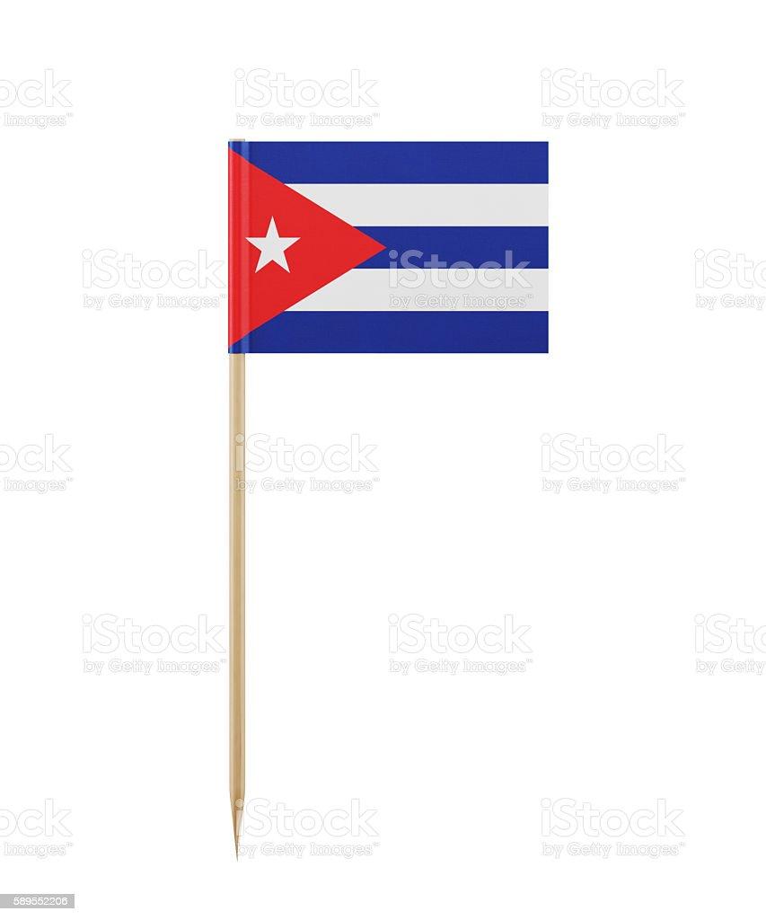 Tiny Cuban Flag on a Toothpick stock photo