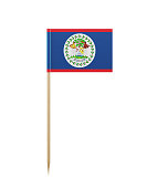 Tiny Flag of Belize on a Toothpick
