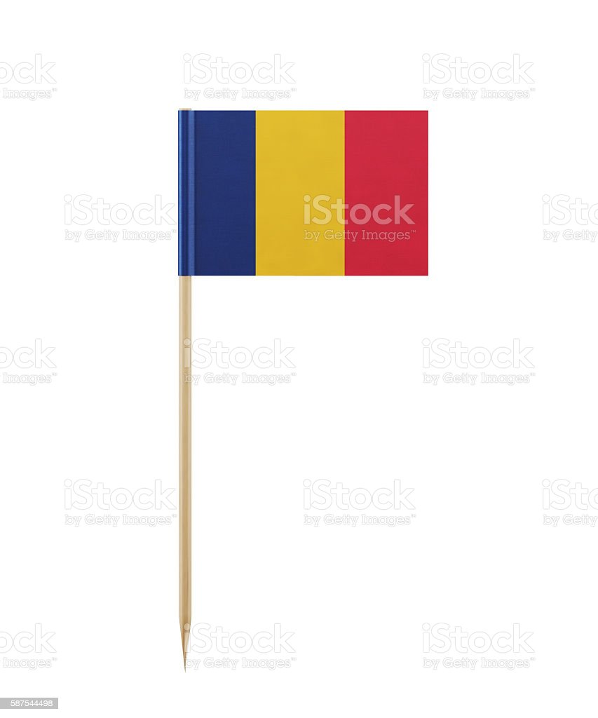 Tiny  Flag  of Chad on a Toothpick stock photo