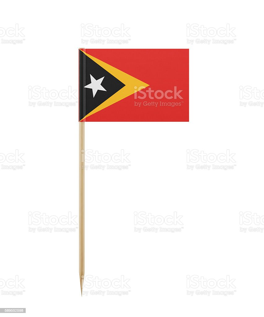 Tiny Flag of East Timor on a Toothpick stock photo