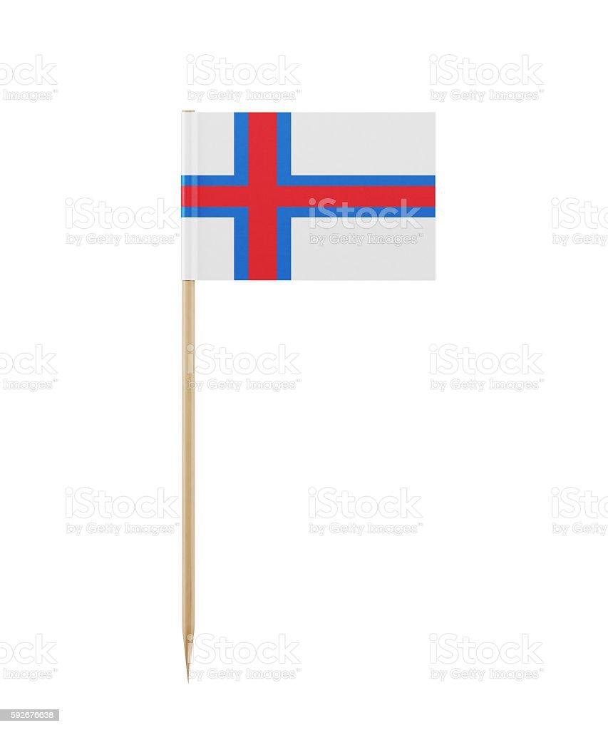 Tiny Flag of faroe Islands on a Toothpick stock photo