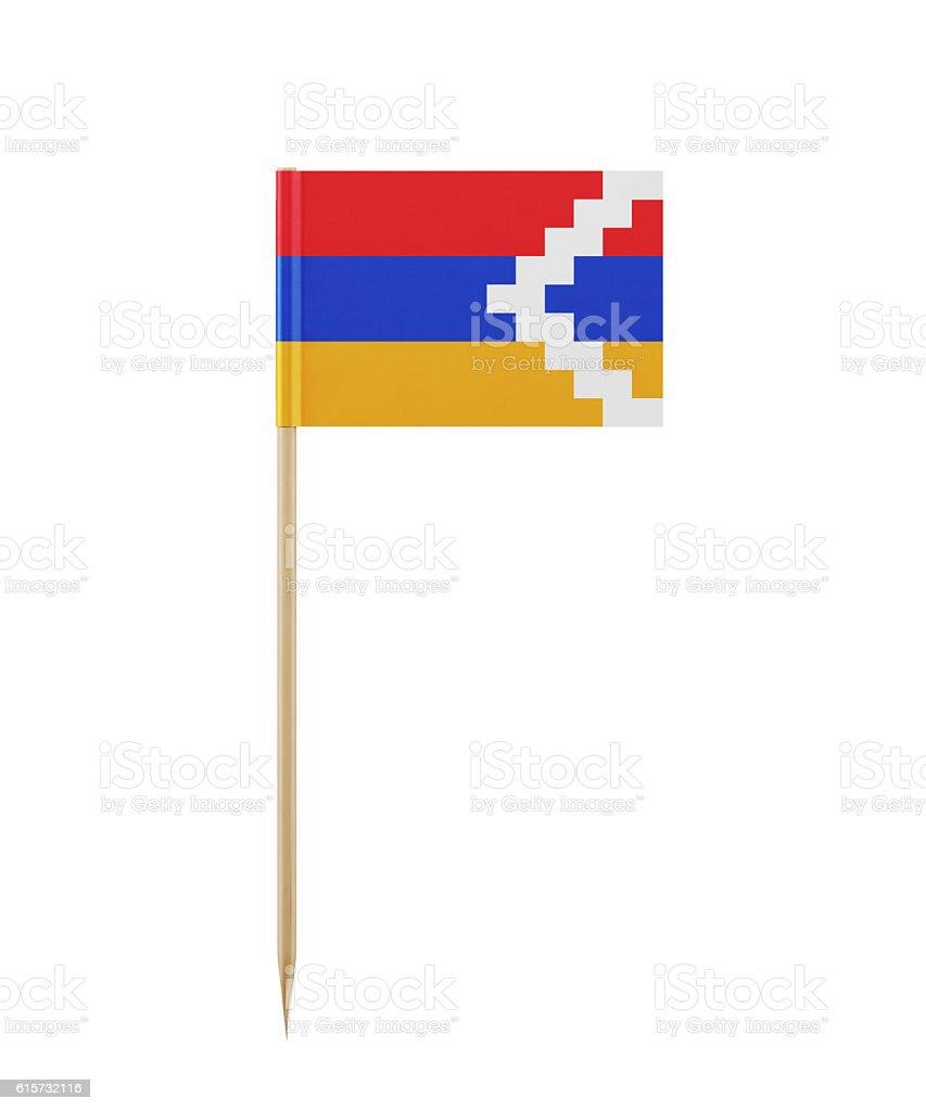 Tiny Flag of Nagorno-Karabakh on a Toothpick stock photo