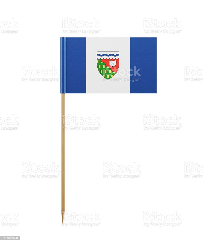 Tiny Flag of Northwest Territories of Canada on a Toothpick stock photo