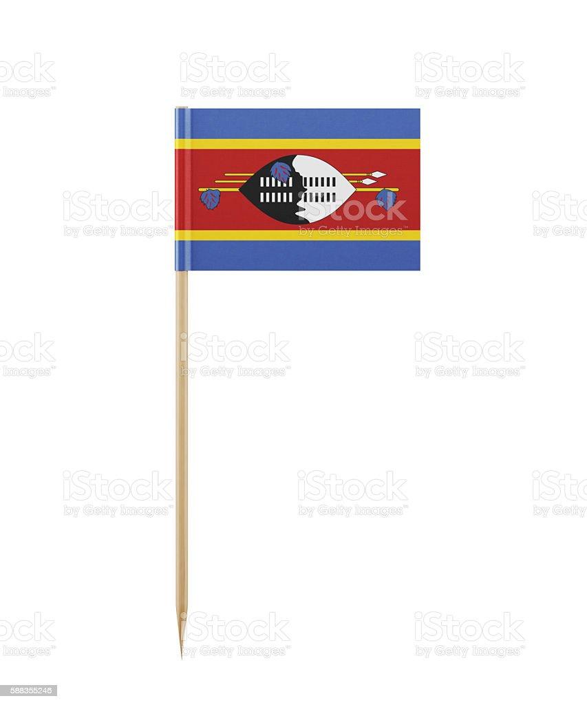 Tiny Flag of Swaziland on a Toothpick stock photo