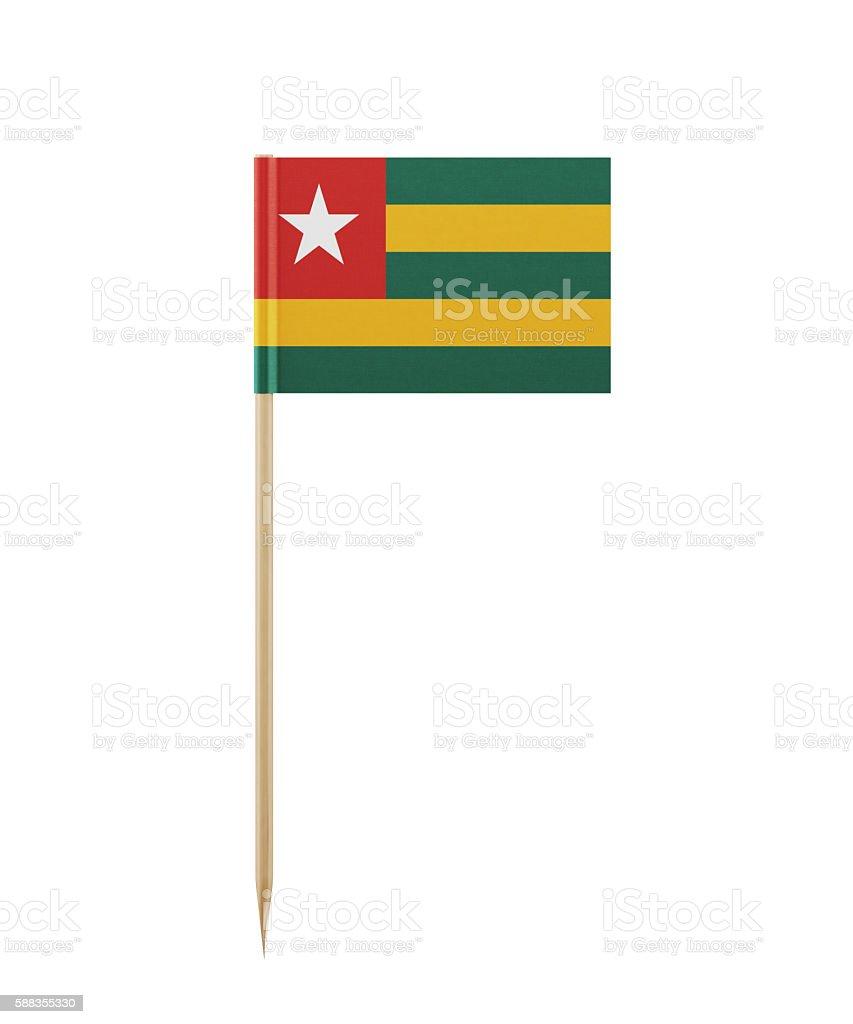 Tiny Flag of Togo on a Toothpick stock photo