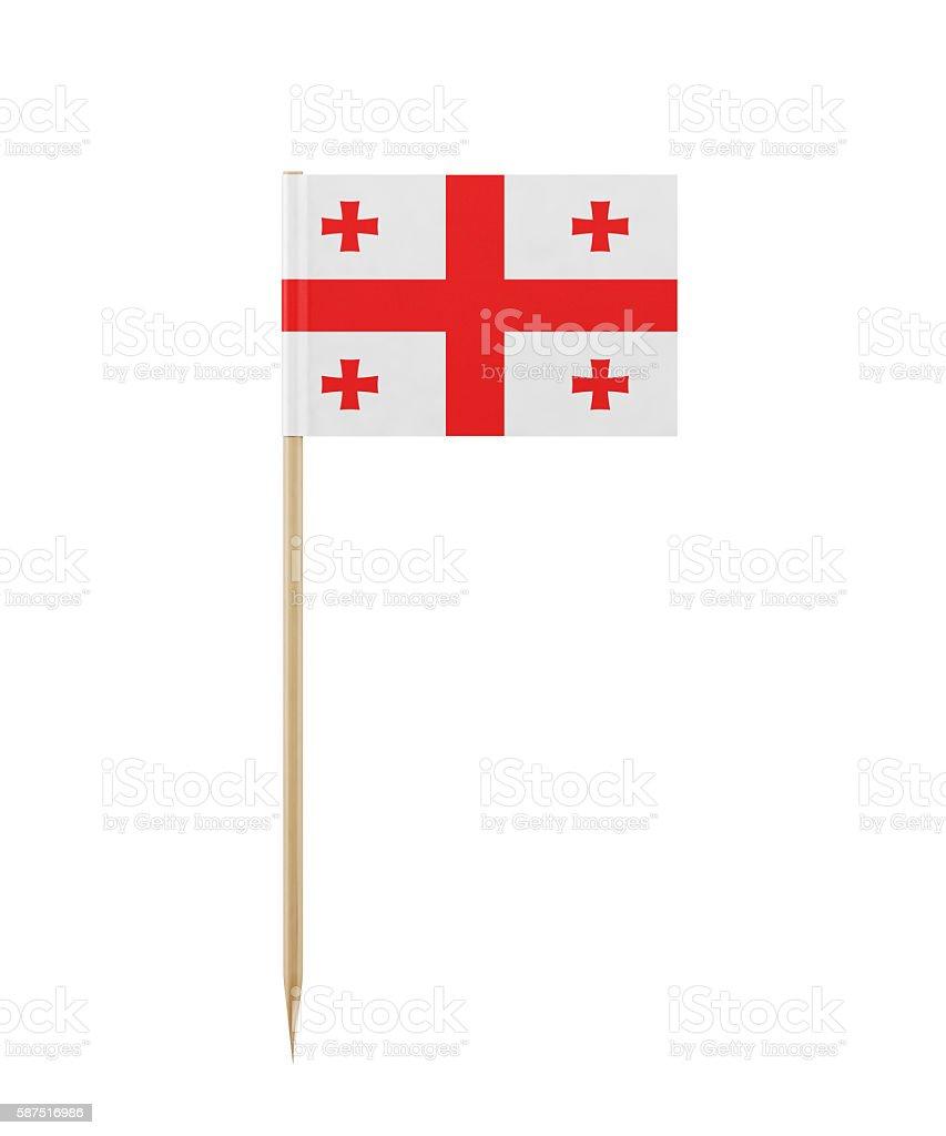 Tiny Georgian Flag on a Toothpick stock photo