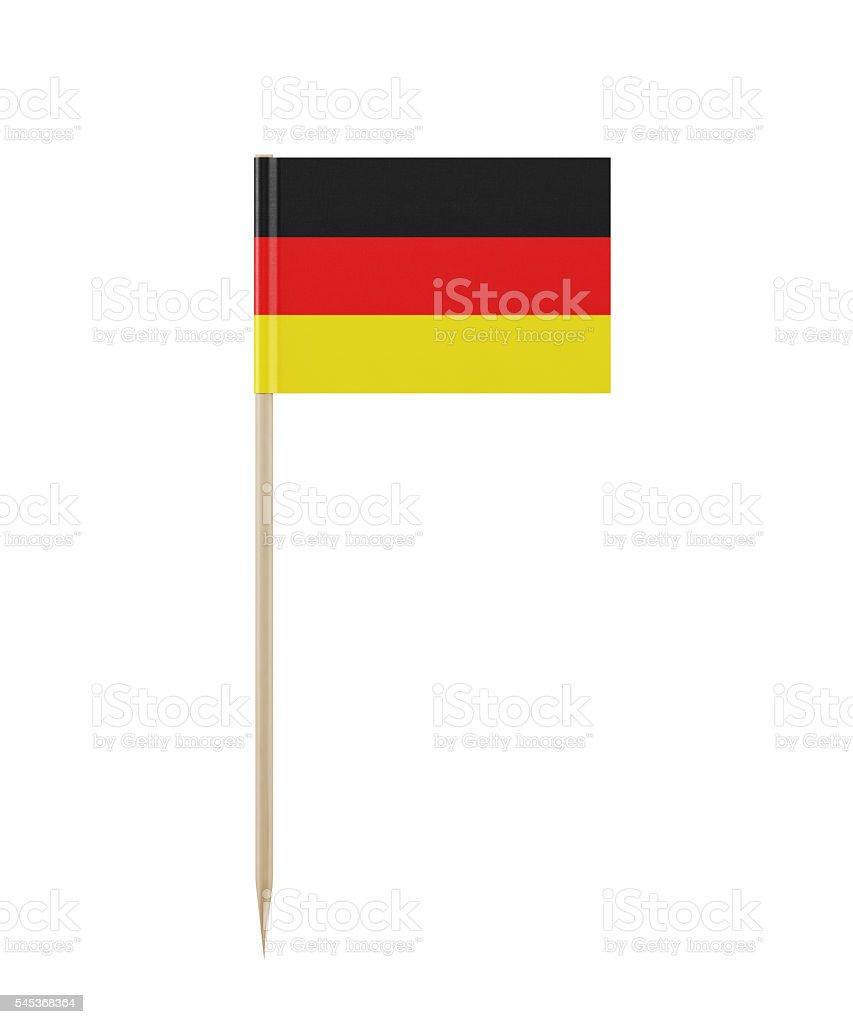 Tiny German Flag on a Toothpick stock photo