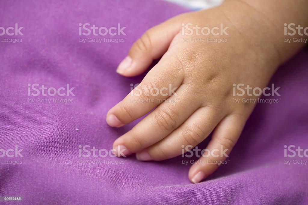 Tiny hand royalty-free stock photo