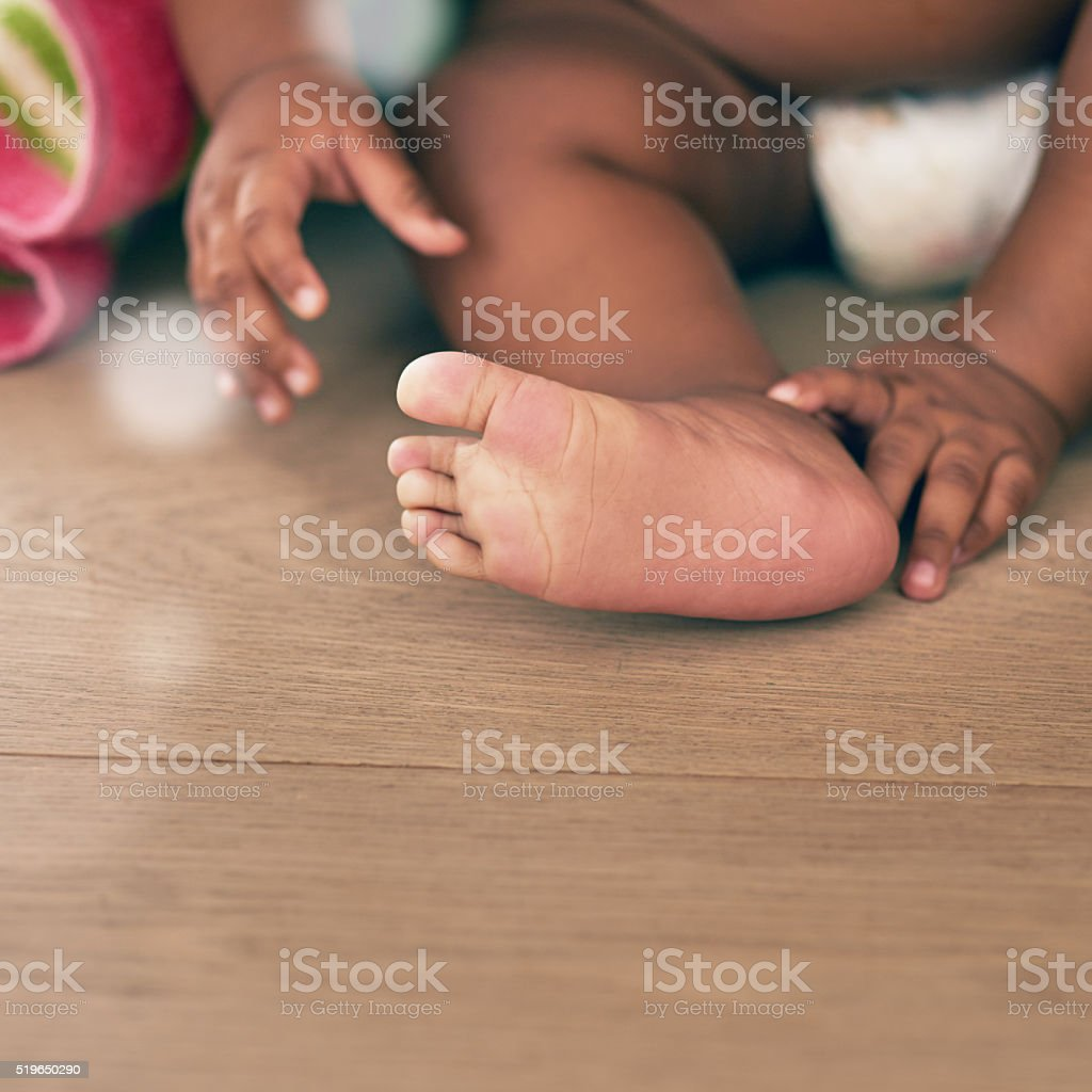 Tiny hands and toes stock photo