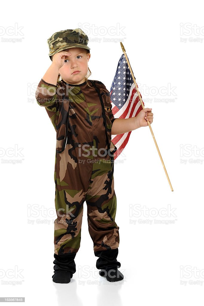 Tiny Homesick Soldier royalty-free stock photo