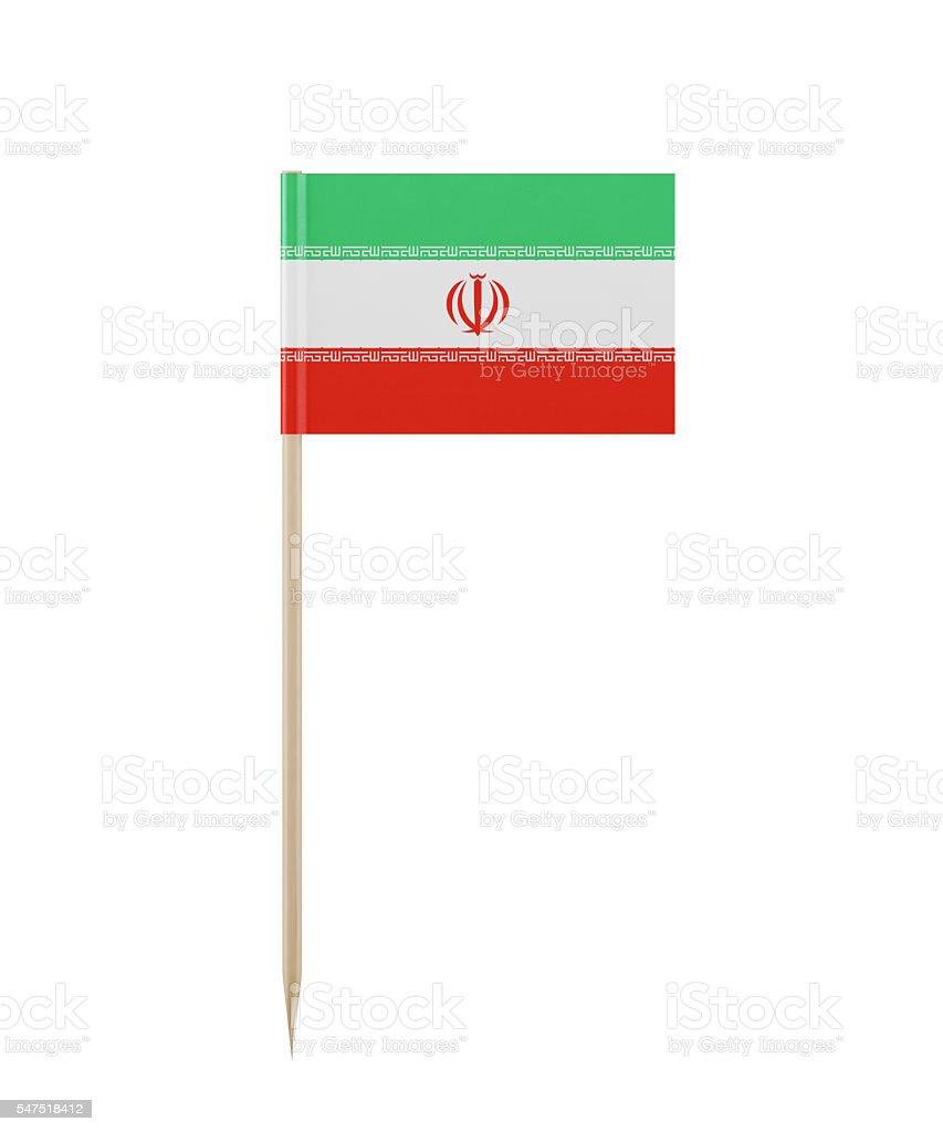 Tiny Iranian Flag on a Toothpick stock photo