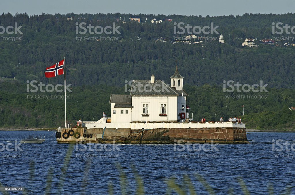 Tiny island in the Oslo Fjord, Norway royalty-free stock photo