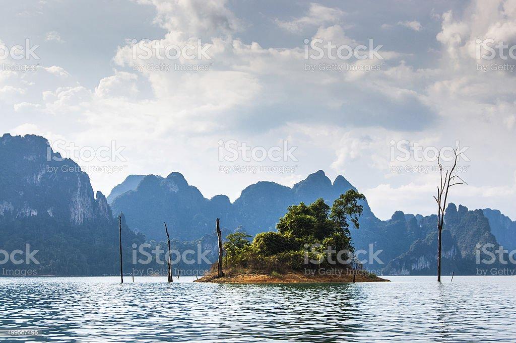 Tiny Island, Khao Sok National Park stock photo