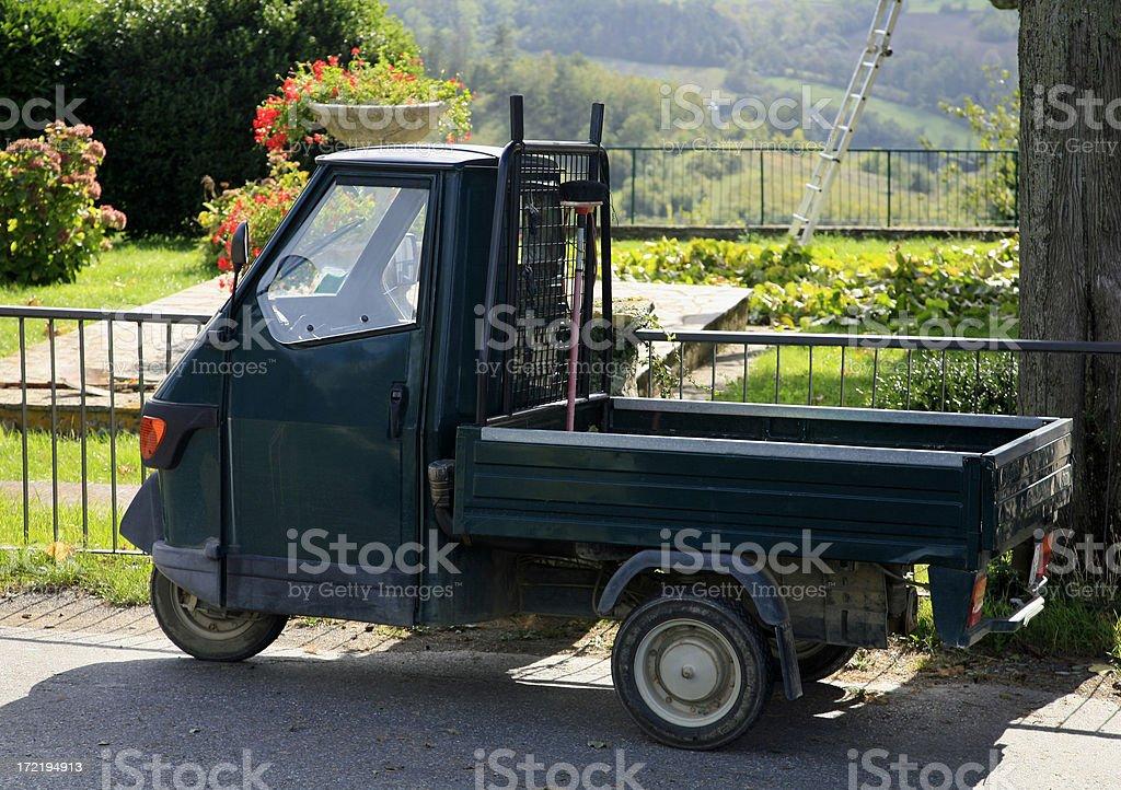 Tiny Italian Gardening Truck royalty-free stock photo