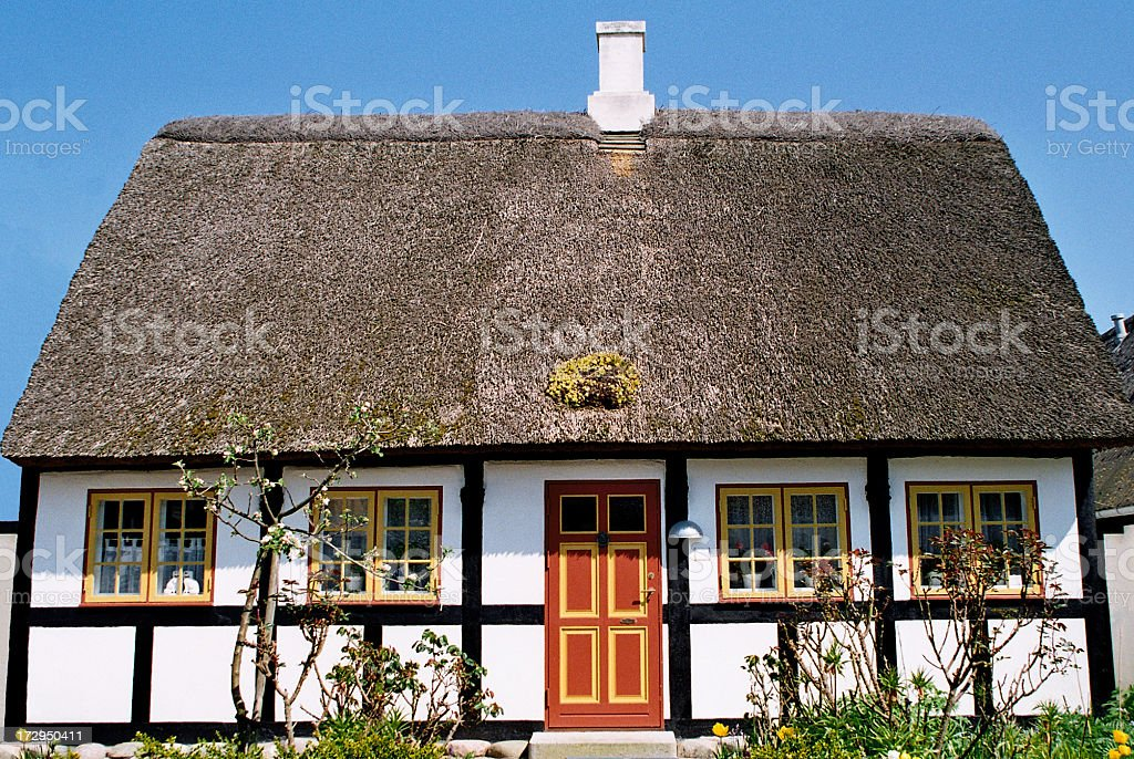 Tiny Little Cottage - Denmark royalty-free stock photo