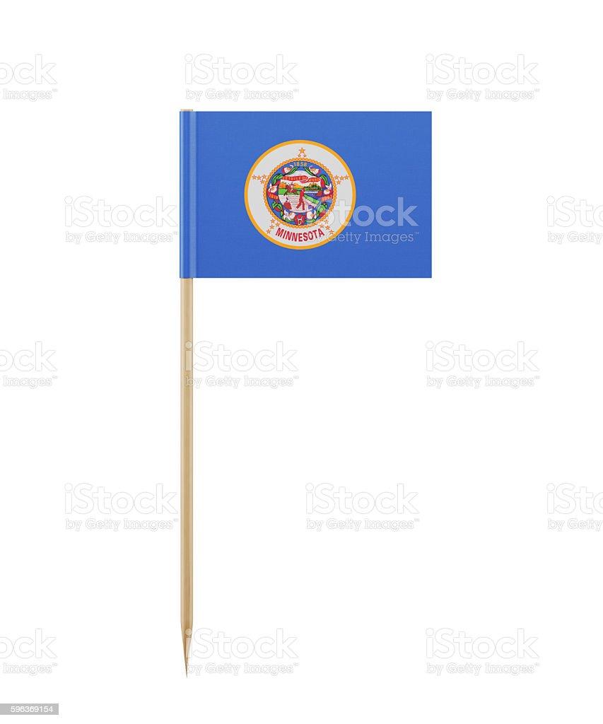 Tiny Minnesota Flag on a Toothpick stock photo