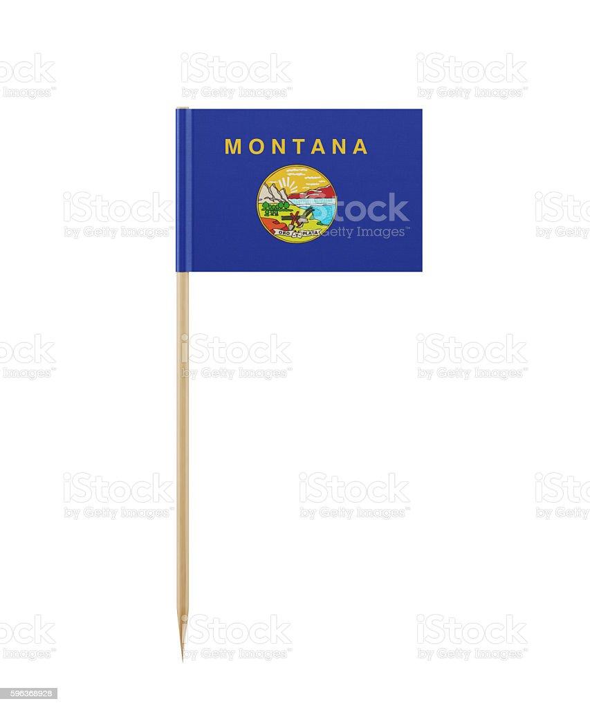Tiny Montana State Flag on a Toothpick stock photo