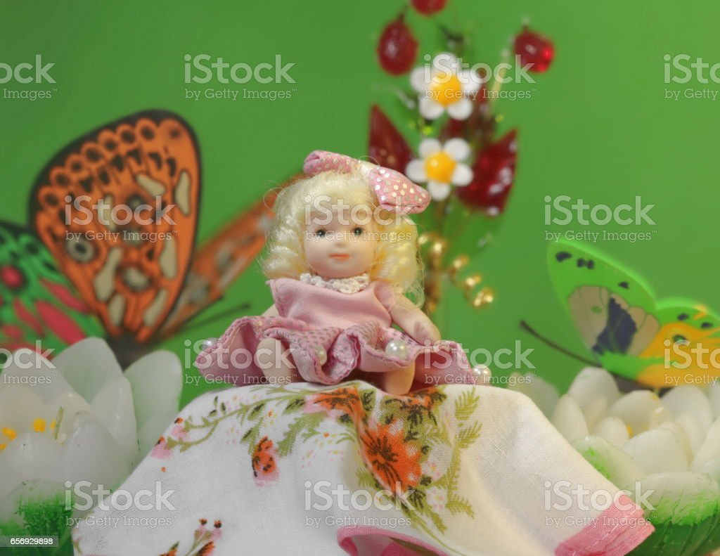tiny Princess Thumbelina stock photo