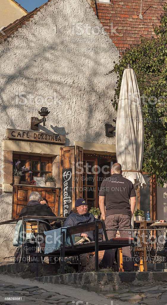 Tiny pub in the downtown of Szentendre stock photo