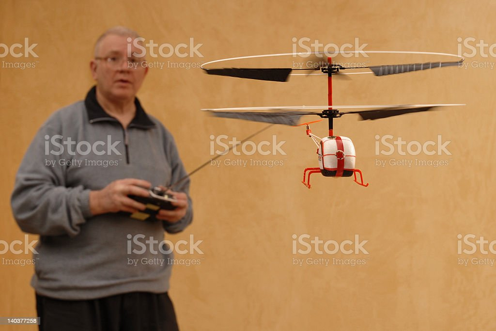 Tiny RC Helicopter stock photo