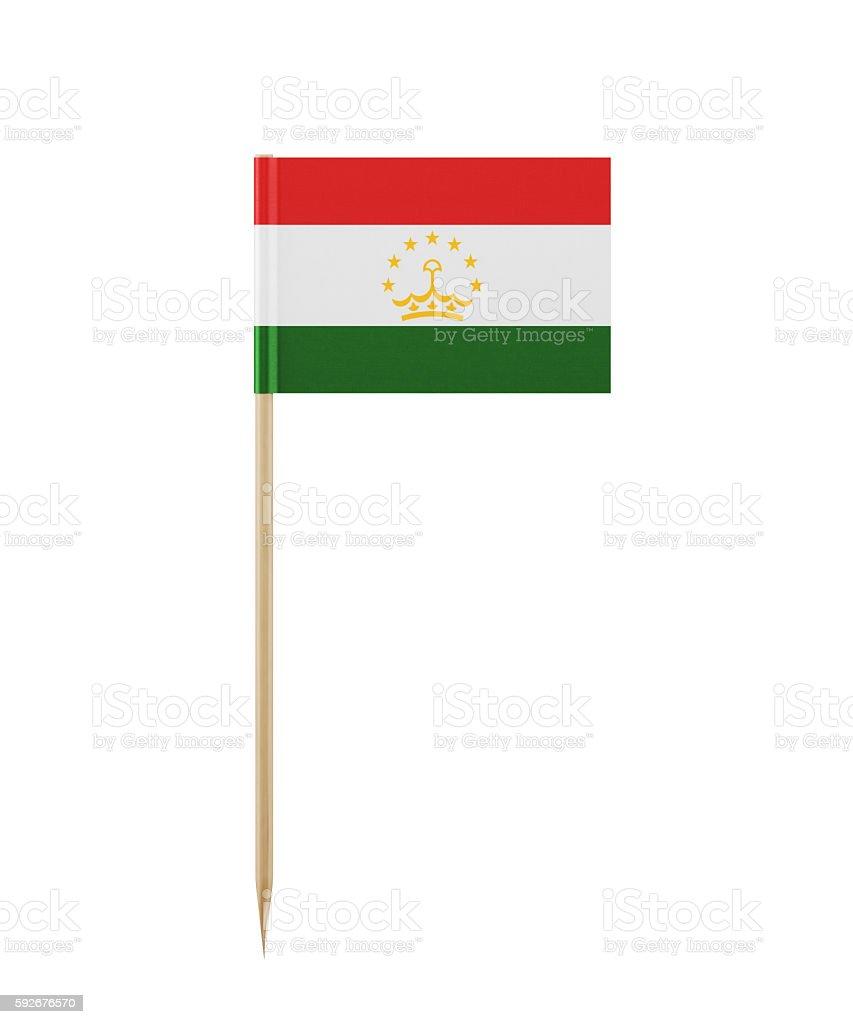 Tiny Tajik Flag on a Toothpick stock photo