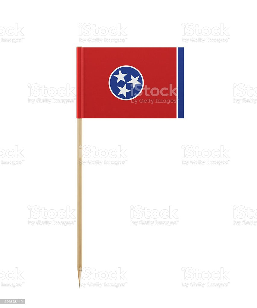 Tiny Tennessee Flag on a Toothpick stock photo