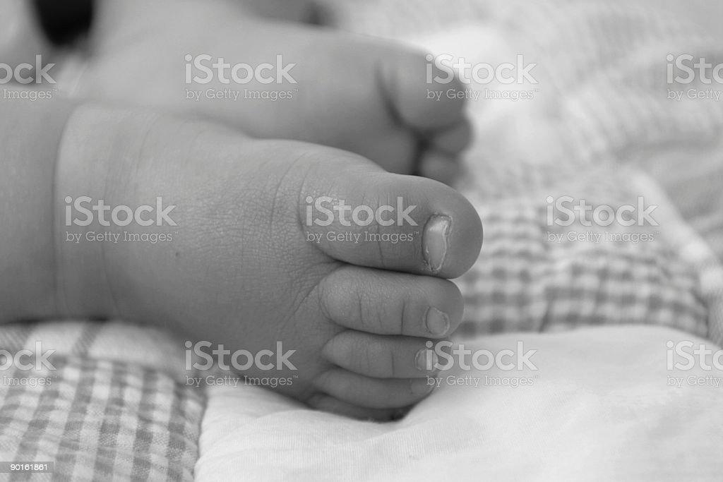 Tiny toes royalty-free stock photo