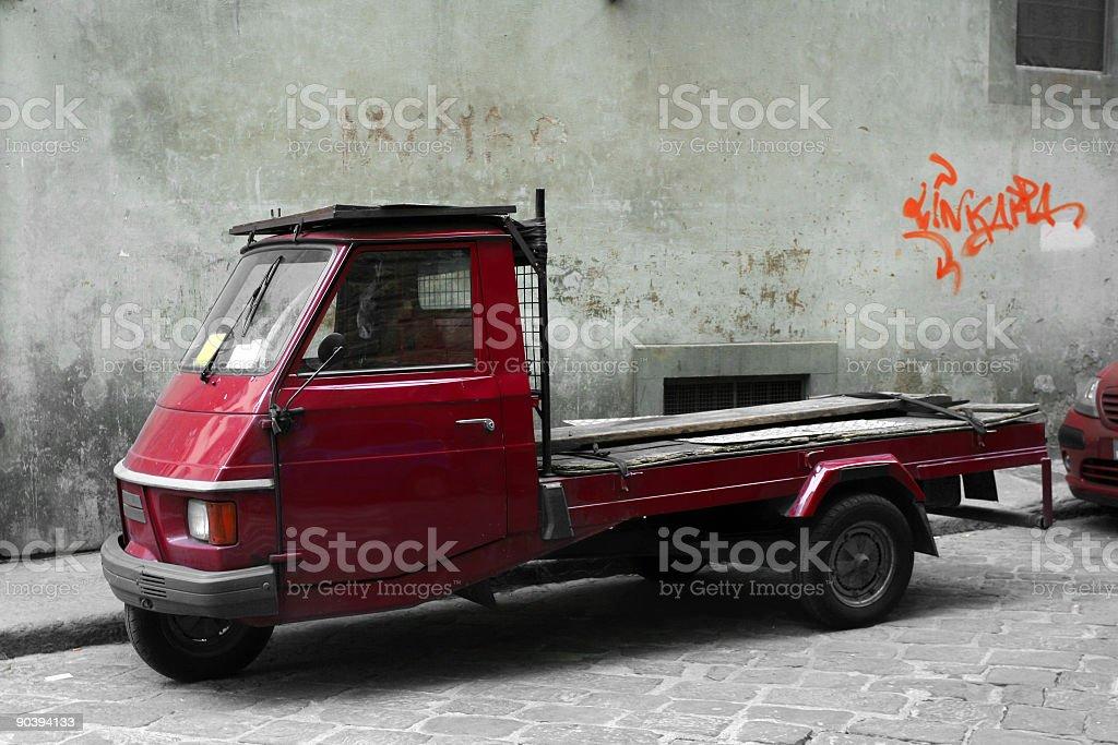 Tiny truck royalty-free stock photo
