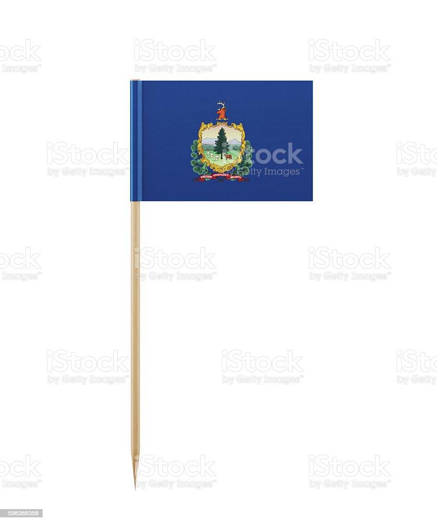 Tiny Vermont Flag on a Toothpick stock photo
