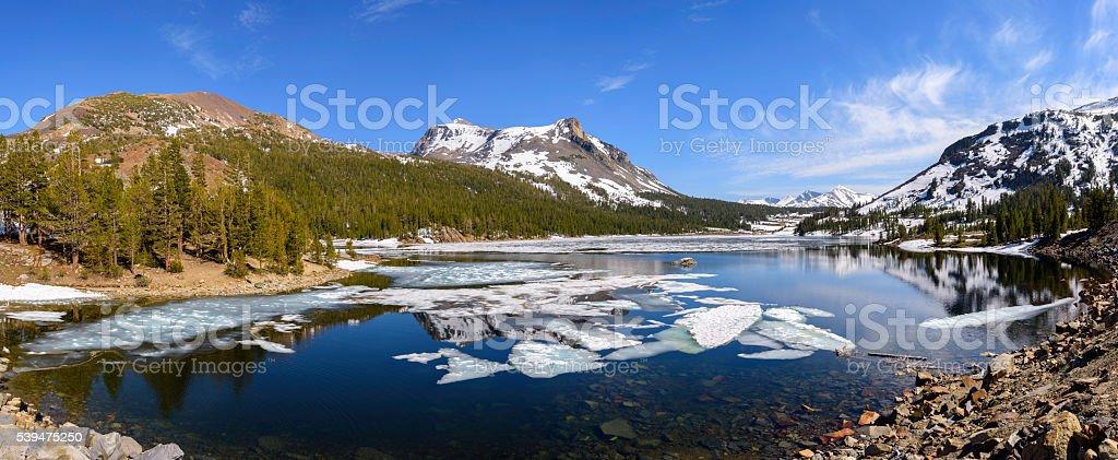 Tioga Lake in spring stock photo