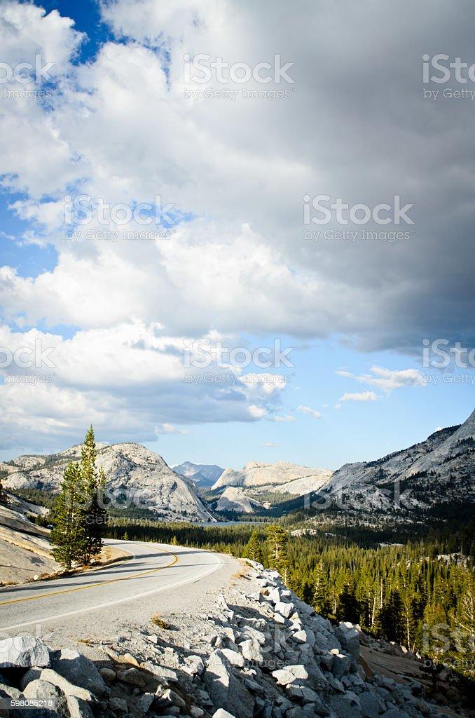 Tioga Pass of Yosemite stock photo