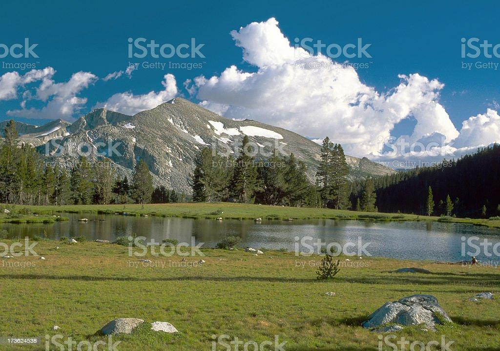 Tioga Pass Pond in Yosemite National Park stock photo